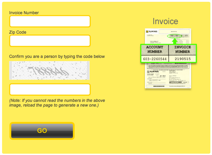 Yellow Pages United Invoice Sign In