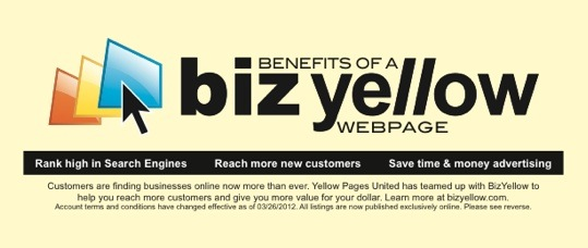 Yellow Pages United Buck Slip